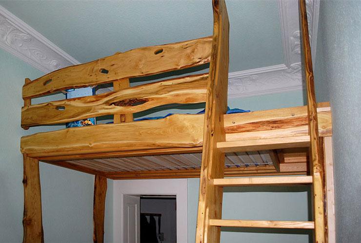 Hochbett Holz Massiv : Kindermöbel hochbetten in massiver kiefer oder buche von dolphin
